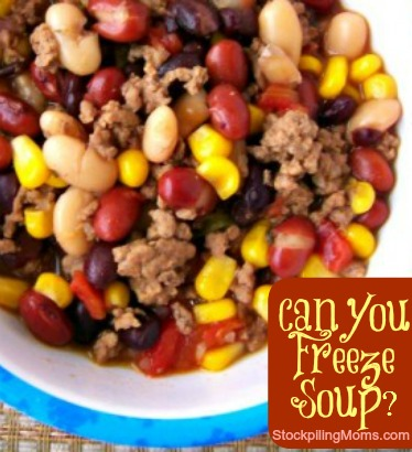 can you freeze soup