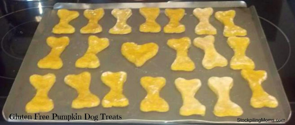 These Gluten Free Pumpkin Dog Treats are sure to be a hit with your pets!
