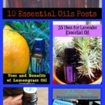 essential oils collage