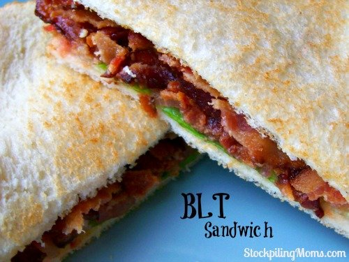 BLT Sandwich is the BEST! This is my go to summer lunch!