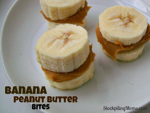 These banana peanut butter bites are an easy and healthy snack! Pop them in the freezer and you will have a frozen treat that is healthy and tastes so good!