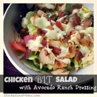 Chicken BLT Salad with Avocado Ranch Dressing1