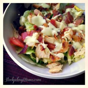 Chicken BLT Salad with Avocado Ranch Dressing2