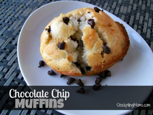 The most delicious Chocolate Chip Muffin Recipe ever! Perfect sweet treat for breakfast!