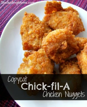 This copycat Chick-fil-A Chicken Nuggets Recipe tastes just like the real thing! This recipe will save you time and money!