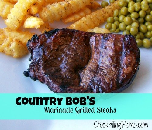 Country Bob's Marinade Grilled Steaks are so flavorful and easy to prepare on the grill.