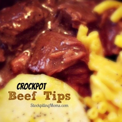 Crockpot Beef Tips and Gravy Recipe is simple to prep and tastes amazing!