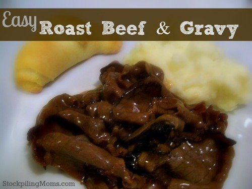 Easy Roast beef & Gravy2