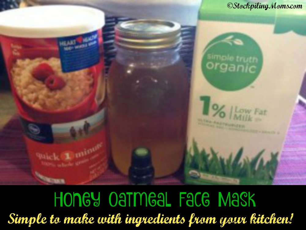 Honey Oatmeal Face Mask - so simple to make with most of the ingredients in your kitchen!