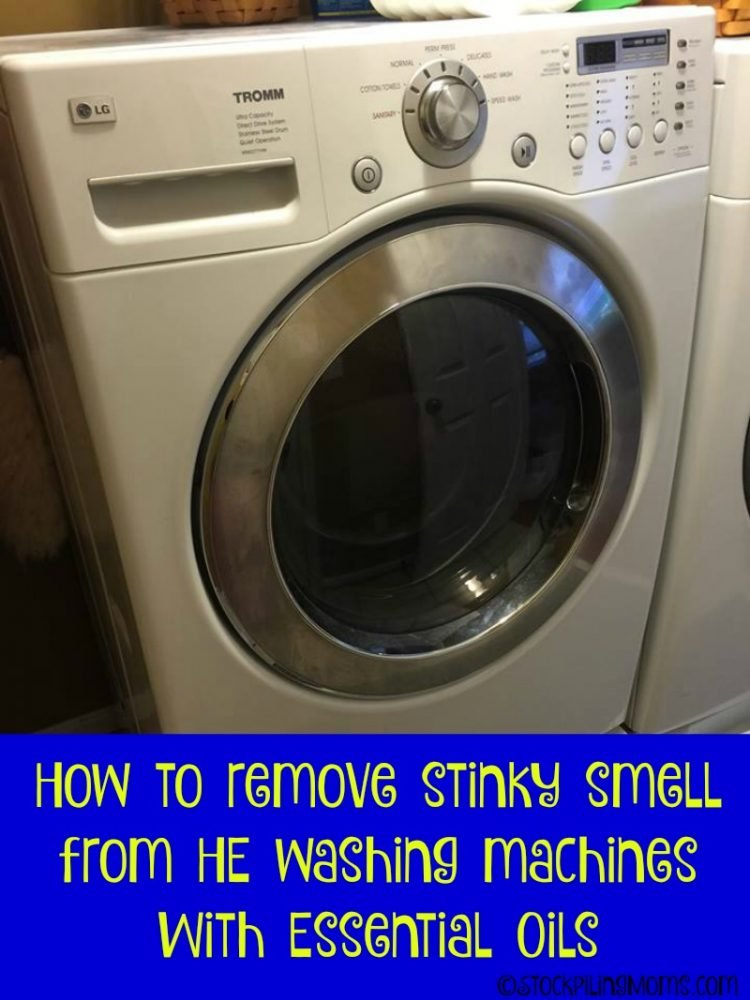 How to remove stinky smell from HE washing machines with essential oils