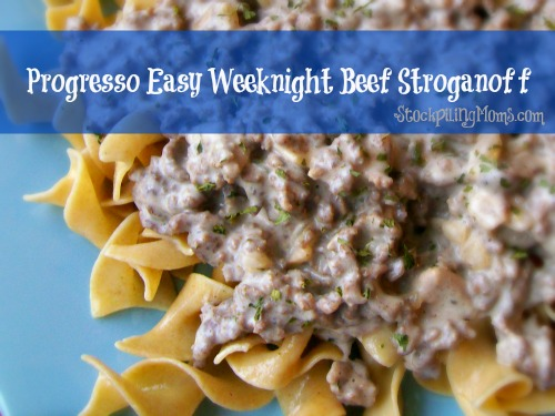 Easy Weeknight Beef Stroganoff is so easy to prepare and tastes amazing!