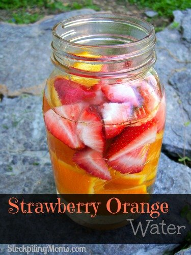 Strawberry Orange Water is so good for you and tastes great too!