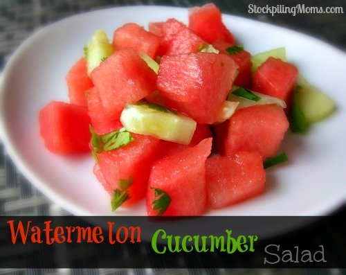 Watermelon Cucumber Salad Recipe is so light and fresh!