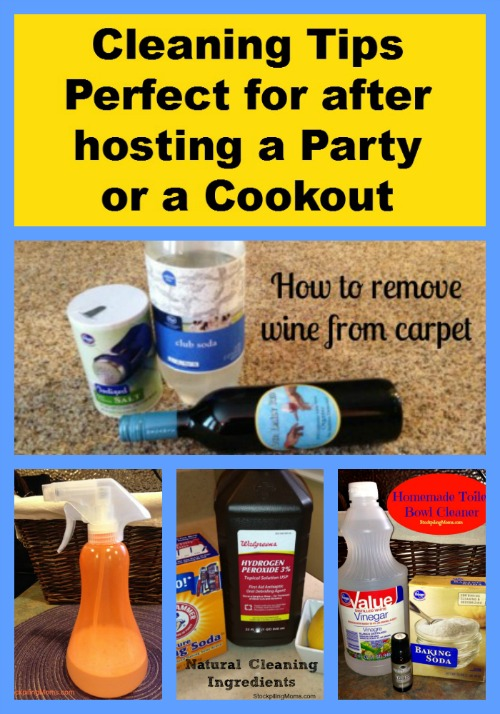 Cleaning Tips that are perfect for after hosting a Party or Cookout