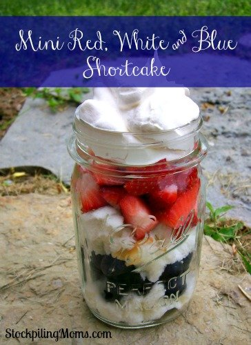 Mini Red, White and Blue Shortcake - Simple Dessert for July 4th!