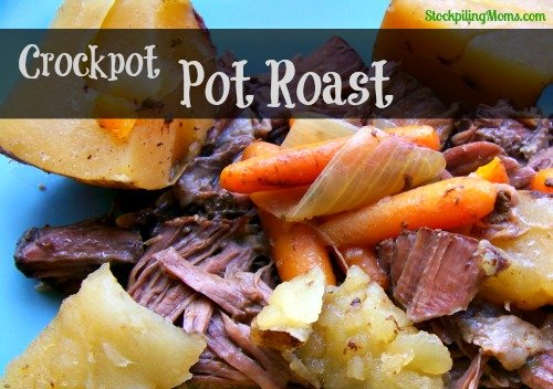 This tasty Crockpot Pot Roast Recipe is perfect on cold days!