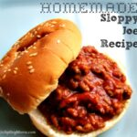 Homemade Sloppy Joe Recipe