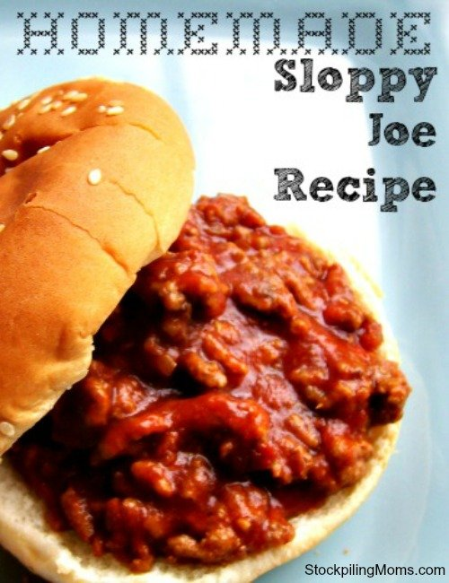 We love this Homemade Sloppy Joe recipe. I love being able to control the ingredients I use and eliminate the processed canned version.