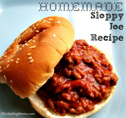 Homemade Sloppy Joe Recipe is a favorite in my house during baseball season. This meal is quick and can be prepared in 30 minutes.