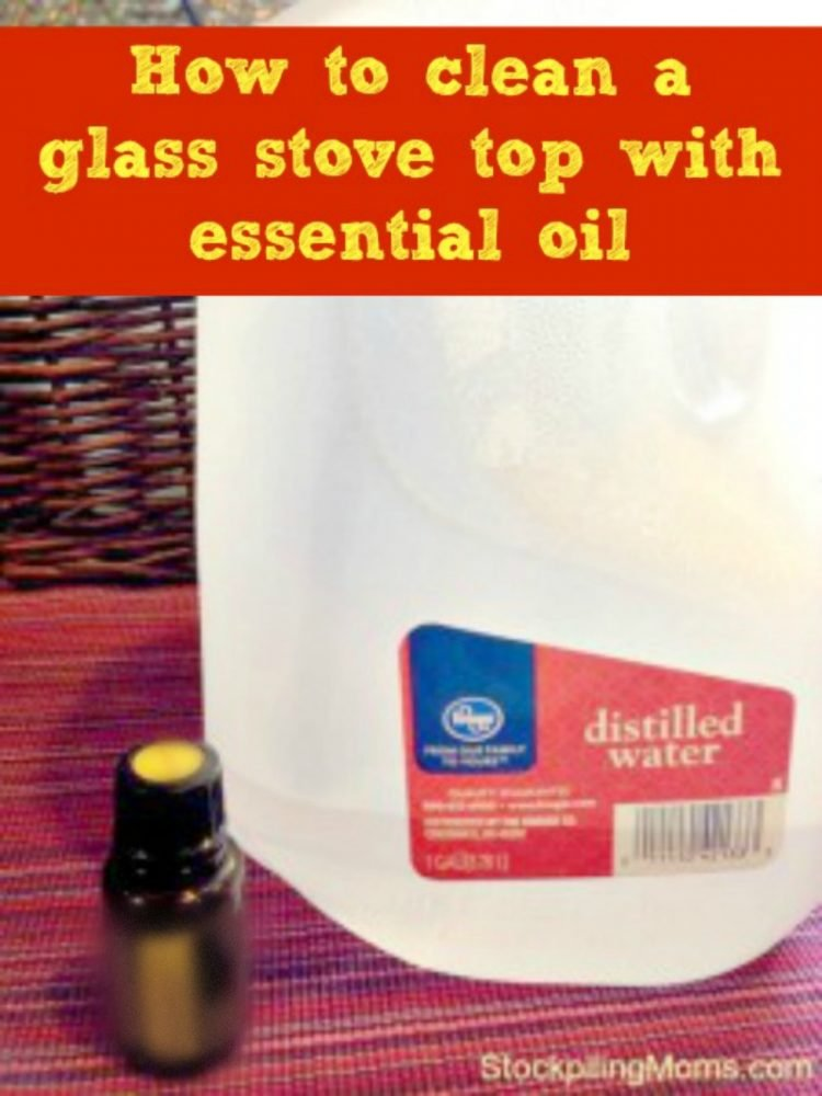 How to clean a glass stove top with essential oil