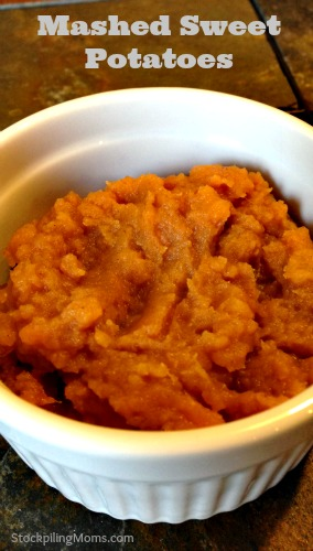 Mashed Sweet Potatoes are AMAZING! My husband loves this side dish!