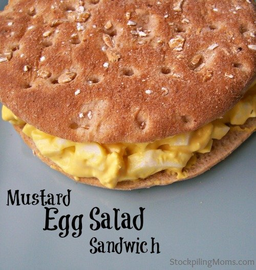 Mustard Egg Salad Sandwich - yummy lunch idea for packed lunches (you or the kids).