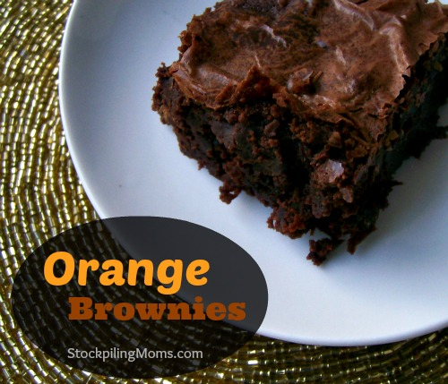 Orange Brownies Recipe is a delicious twist on the traditional brownie. I love the light orange flavor.