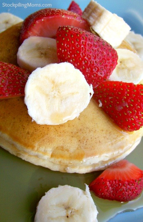 Strawberry Banana Pancakes are healthy and delicious!