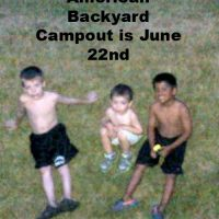 Great American Backyard Campout – June 22nd