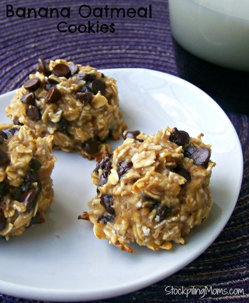 Banana Oatmeal Cookies have only 2 ingredients in these healthy low carb cookies (plus chocolate chips if you want)! They are SO good and SO good for you!