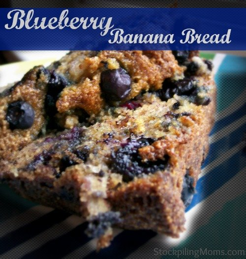 This Blueberry Banana Bread is so moist and delicious!