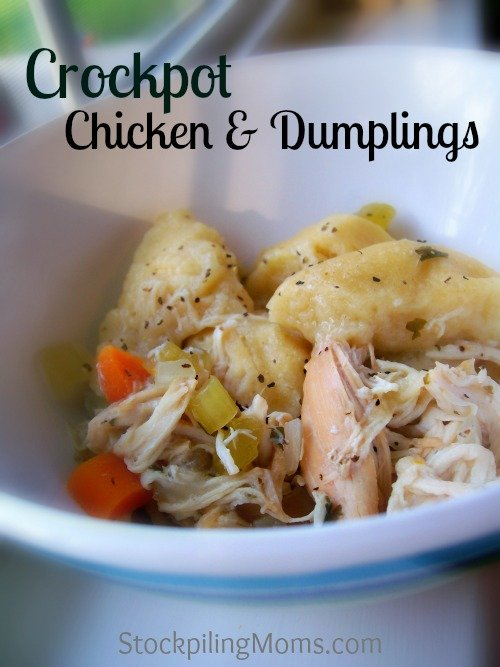 Crockpot Chicken & Dumplings - This Southern Comfort Food made easy in the slow cooker!