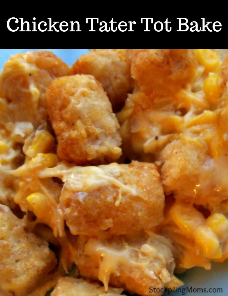 Chicken Tater Tot Bake is AMAZING! My family LOVES when I prepare this easy recipe.