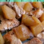 Crockpot Apples and Porkchops