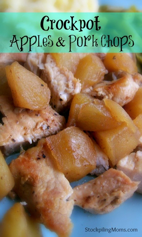 Only 6 ingredients in this flavorful Crockpot Apples and Porkchops dinner!