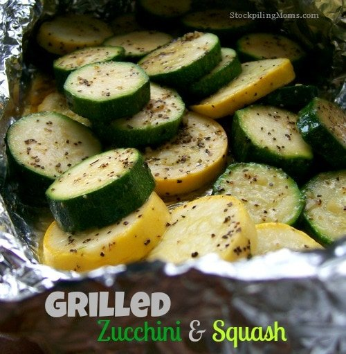 Grilled Zucchini and Squash is a healthy side dish that you can make in a few minutes!