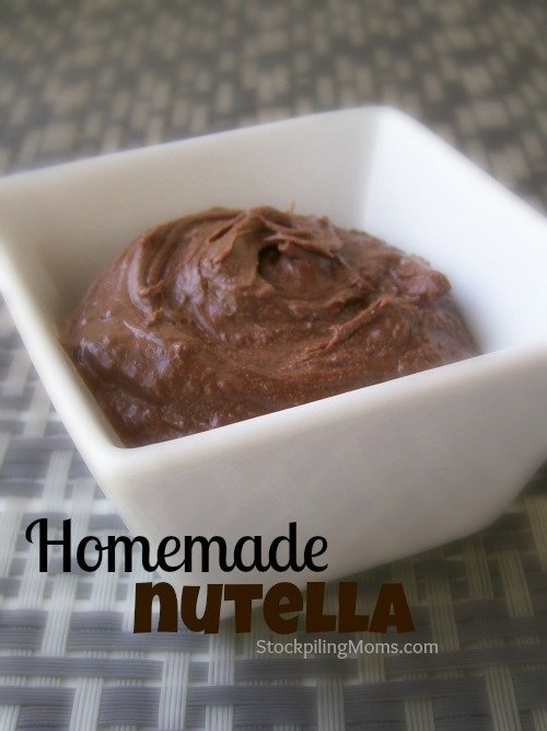 There is no reason to buy store bought when you can make your own Homemade Nutella