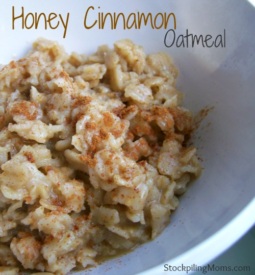 Honey Cinnamon Oatmeal