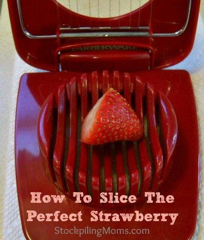 How-to-Slice-a-Strawberry without slicing your finger. Safe for kids and elderly.