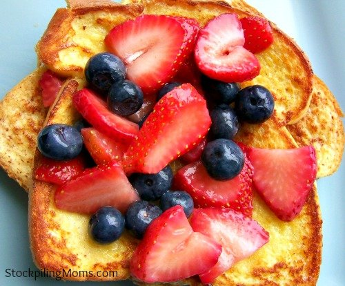 Are you looking for the perfect breakfast for July 4th?  Check out Patriotic French Toast!
