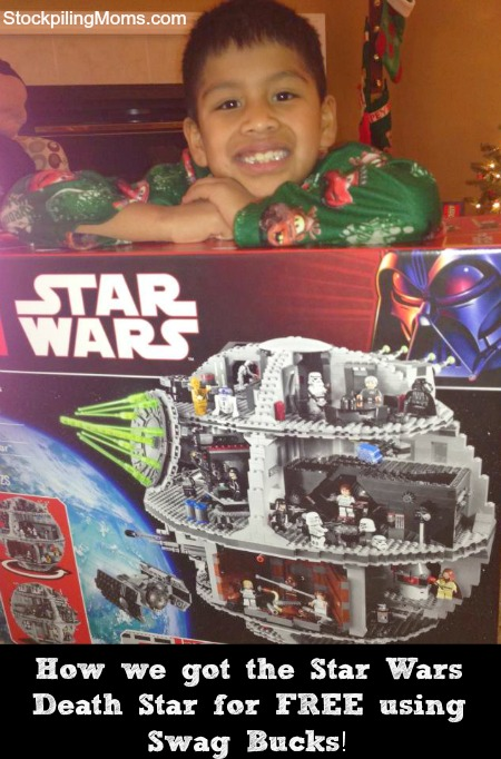 How we got the LEGO Star Wars Death Star for FREE using Swag Bucks!
