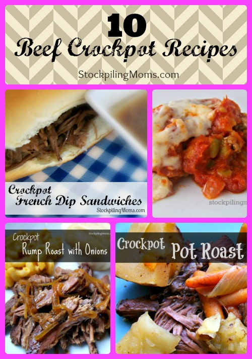 10 Beef Crockpot Recipes Collage