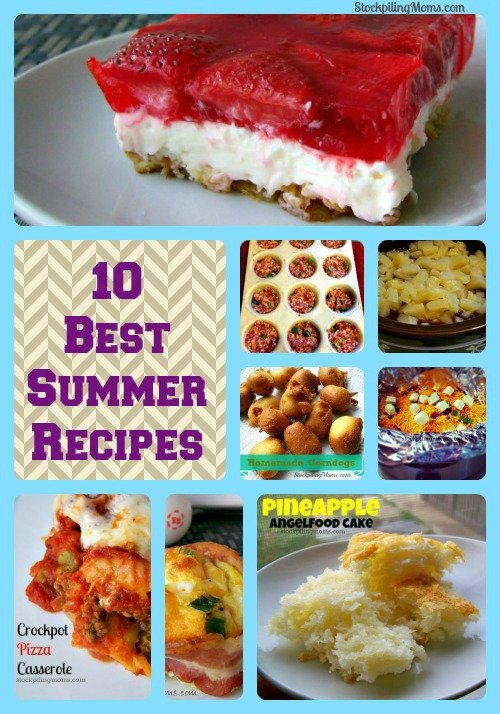 These are the 10 Best recipes to make during the summer! Some of the recipes are great to make for cookouts or gatherings because they are perfect for travel. Other recipes are a perfect way to treat yourself at the end of a hot summer day. I hope you enjoy these recipes as much as my family and I do!