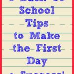 5 Back To School Tips to Make The First Day A Success