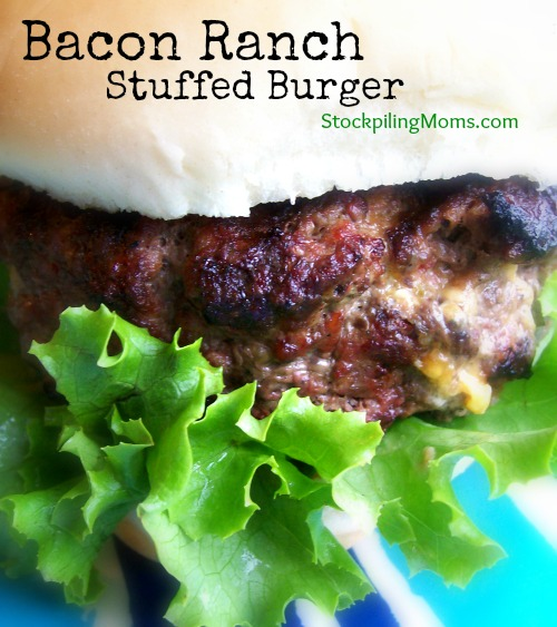 Bacon Ranch Stuffed Burger is the BEST tasting burger ever!