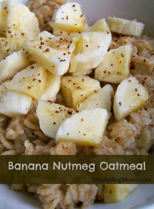 Banana Nutmeg Oatmeal is a clean eating healthy breakfast meal that is perfect to start your day.
