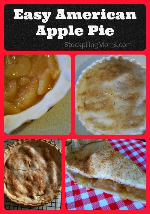 This is an Easy American Apple Pie Recipe that the whole family will love!