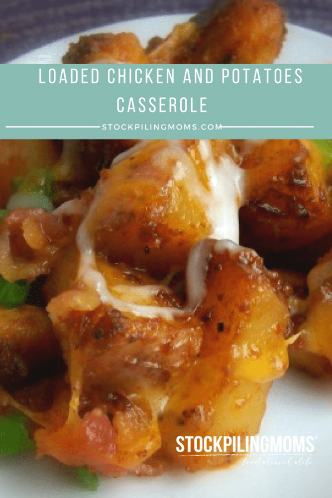 This loaded chicken and potatoes casserole is so easy to make and tastes delicious!