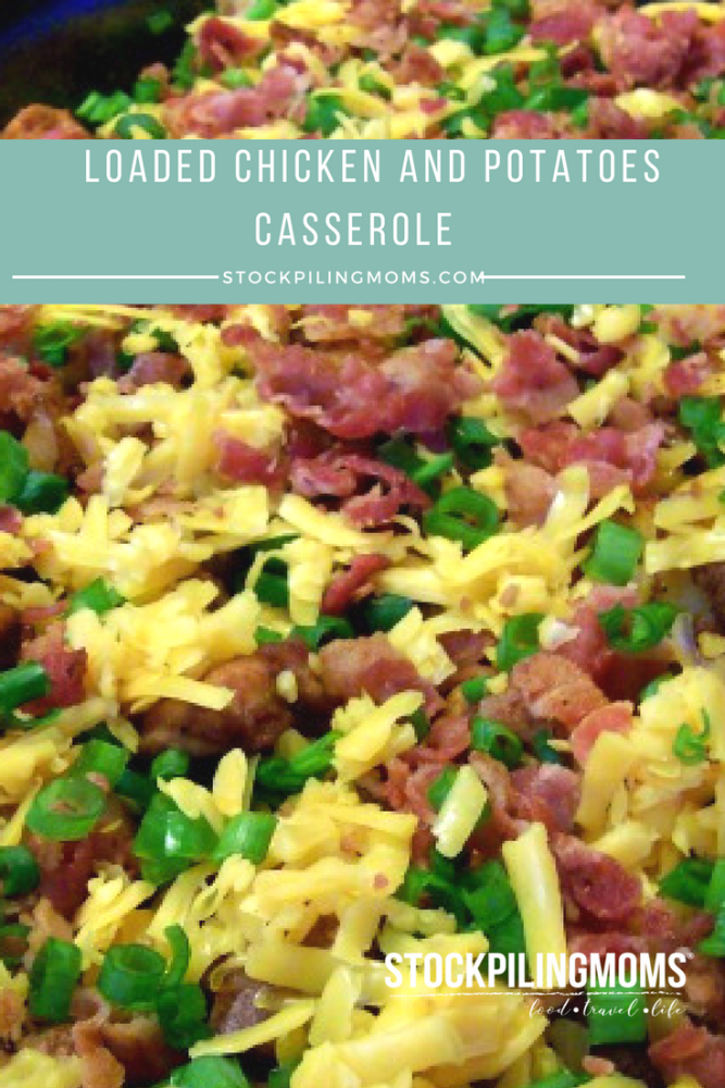 Loaded Chicken and Potatoes Casserole Recipe - This easy one dish meal is out of this world!