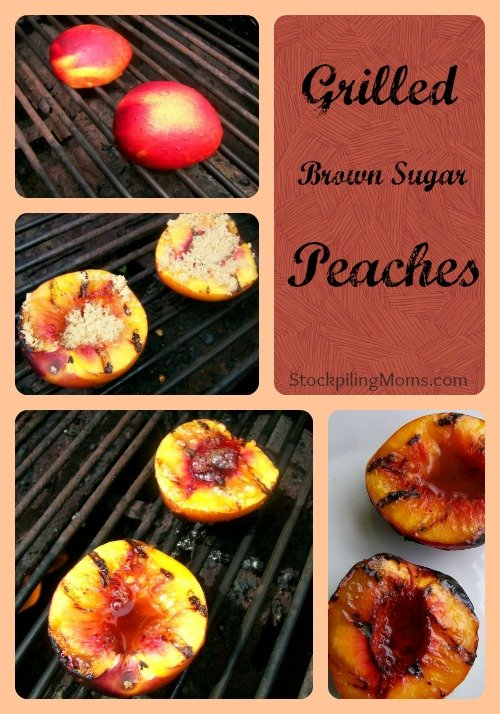 Grilled Brown Sugar Peaches Collage